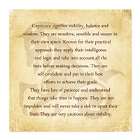 Capricorn Character Traits Fine-Art Print