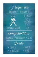 Aquarius Zodiac Sign Fine-Art Print