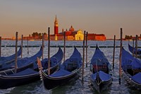 Gondolas at Sunset Fine-Art Print