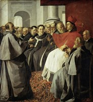 Saint Bonaventura at the Church Council of Lyon Fine-Art Print