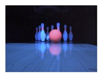 Bowling ball with bowling pins Fine-Art Print