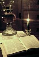 Bible & Lamp Fine-Art Print