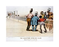 The Darktown Bowling Club: Watching for a Strike Fine-Art Print
