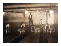 Subway Bowling Alley, 65 South St., Brooklyn, N.Y. Fine-Art Print