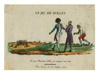 Bowling Le Jeu de Quilles Fine-Art Print