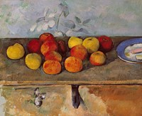 Still life of apples and Biscuits Fine-Art Print