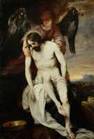 The Dead Christ Supported by an Angel Fine-Art Print