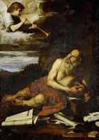 Saint Jerome with the Angel of the Last Judgement Fine-Art Print