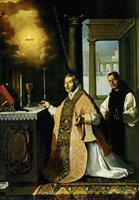 Holy Mass with Priest Cabañuelas. 1638 Fine-Art Print