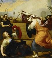 The Duel of Isabella de Carazzi and Diambra de Pottinella Fine-Art Print