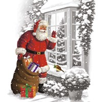 Santa's Gift Arrival Fine-Art Print