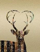 Deer Gold Fine-Art Print