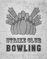 Strike Club Bowling - Gray Fine-Art Print