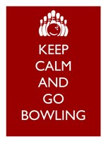 Keep Calm and Go Bowling Fine-Art Print