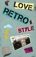 Love Retro Style Fine-Art Print