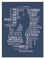 Baseball Words Fine-Art Print