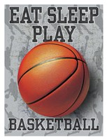 Eat Sleep Play Basketball Fine-Art Print