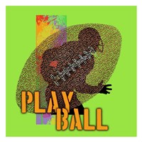 Play Ball Football Fine-Art Print