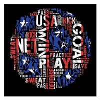 Soccer USA Framed Print
