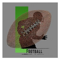 Football Player Framed Print