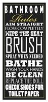 Bathroom Rules (Black) Fine-Art Print