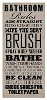 Bathroom Rules (Black on Beige) Fine-Art Print