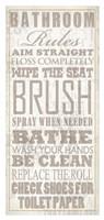 Bathroom Rules (Beige on White) Fine-Art Print