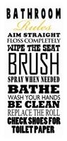 Bathroom Rules (Black on White) Fine-Art Print