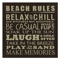 Beach Rules (square) Fine-Art Print
