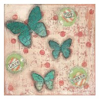 Joy Love Peace Butterflies Fine-Art Print