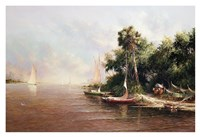 Fisherman Landing Fine-Art Print