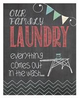 Family Laundry Framed Print