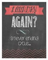 Laundry Again Framed Print