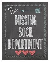 Missing Sock Dept. Framed Print