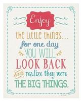 Enjoy Little Things Framed Print