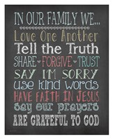 Faith Family Rules Fine-Art Print