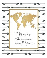 Faux Gold Map Fine-Art Print