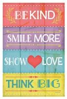 Kind Play Show Think Fine-Art Print