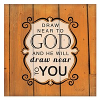 Draw Near to God - Orange Framed Print