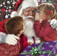Whispering To Santa Fine-Art Print