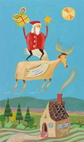 Santa And Red Fine-Art Print