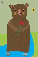 Bear With Flowers Fine-Art Print