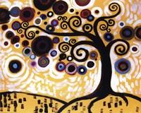 Tree Whimsy On Orange Fine-Art Print