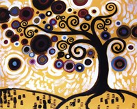 Tree Whimsy On Orange Fine-Art Print