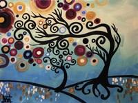 Tree Whimsy On Blue Fine-Art Print