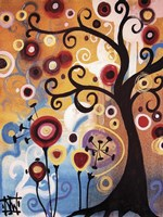 Tree Whimsy And Flowers Fine-Art Print