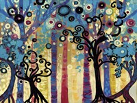 Tree Whimsy In Blud Forest Fine-Art Print