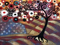 Tree Whimsy On Us Flag Fine-Art Print