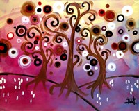 Tree Whimsy On Pink Fine-Art Print