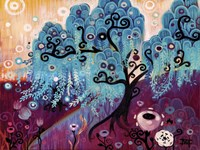 Blue Weeping Willow Whimsy Ii Fine-Art Print